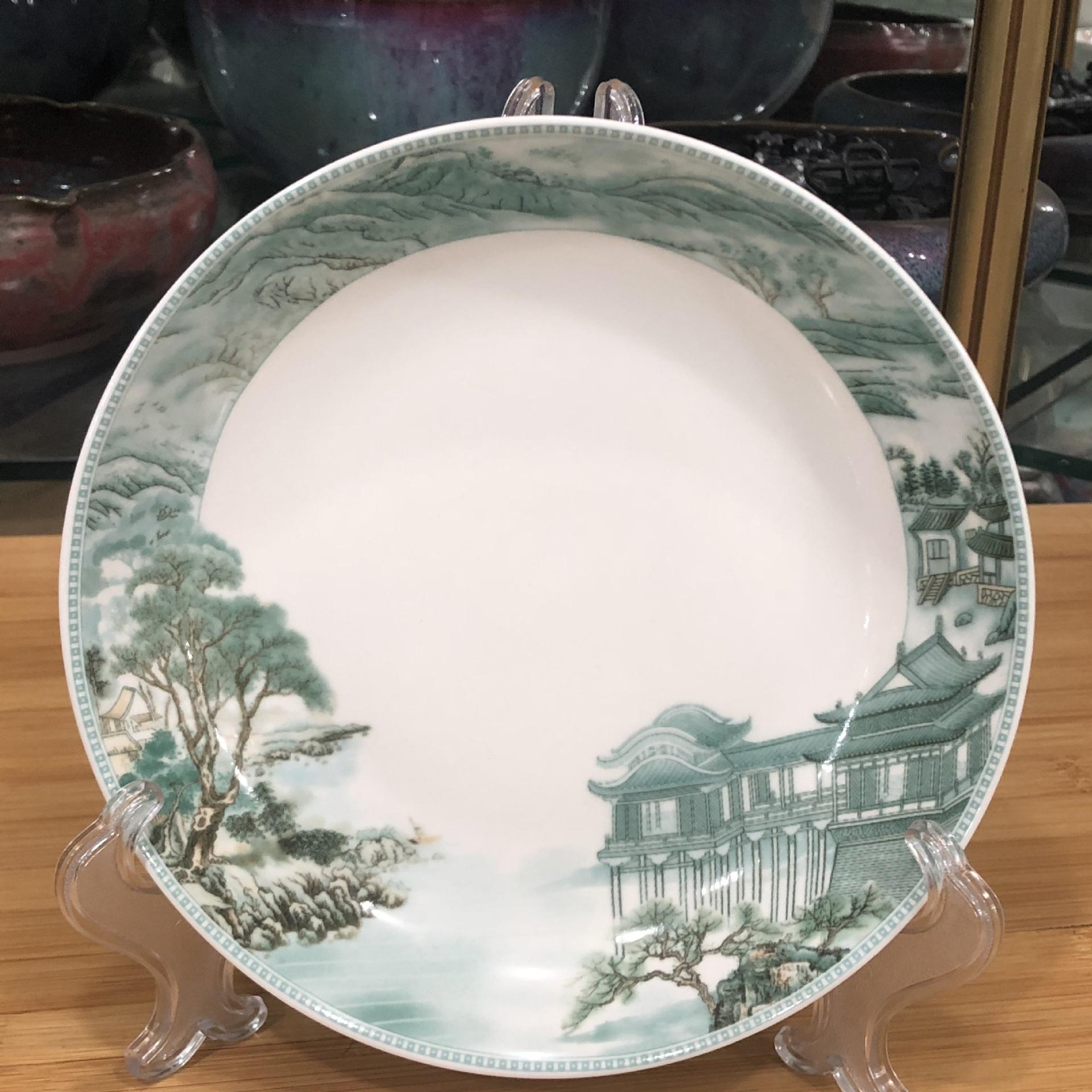 现货供应高温釉中彩陶瓷餐具米饭碗碟果盘汤碗鱼盘微波炉使用