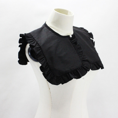 Fake collar Detachable Blouse Dickey Collar False Collar Black cotton big collar with wooden ears and Navy collar with false collar