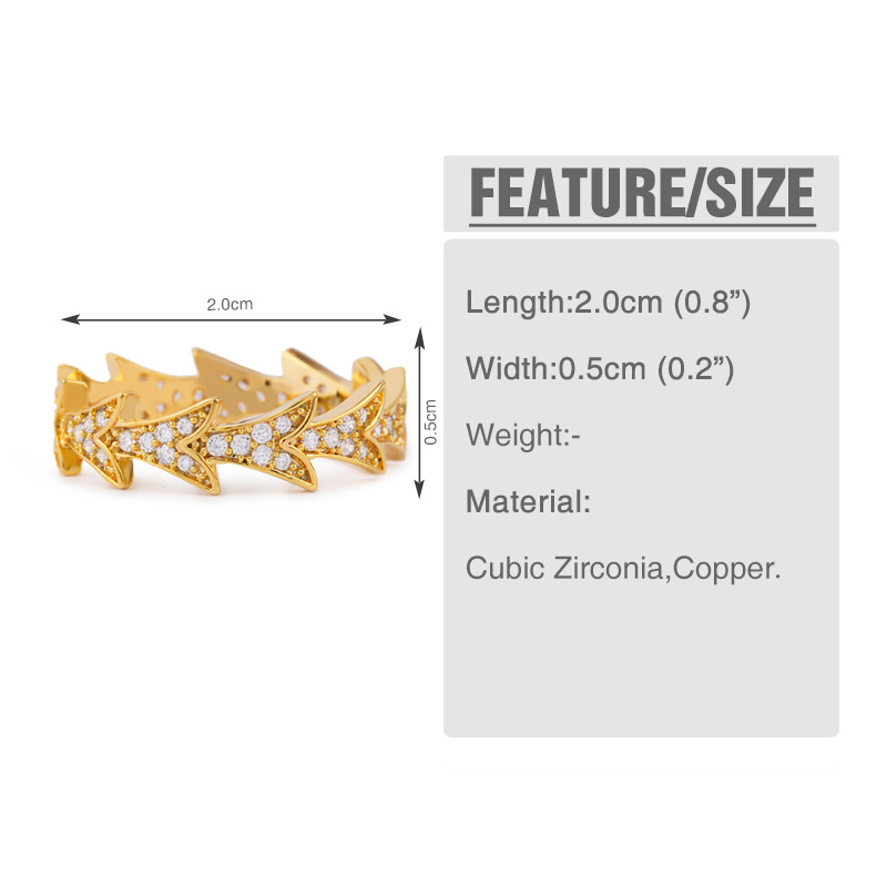 Copper Simple  Ring  (Alloy-7)  Fine Jewelry NHAS0453-Alloy-7
