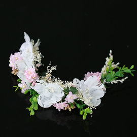 Exquisite flower headband New fabric flower hair accessories headdress  flower fairy headband jewelry