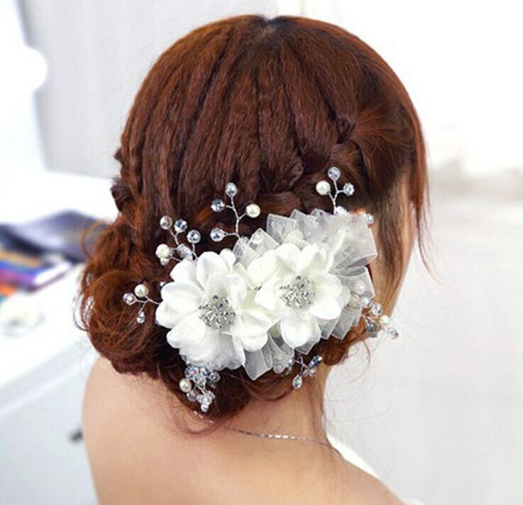 Hairpin hair clip hair accessories for women Low price of Pearl crystal Niang hair ornament