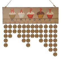 木质日历挂牌生日聚会派对家居装饰挂件DIY手工日历摆件工艺品