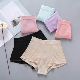 New bamboo fiber ladies middle waist briefs High elastic breathable one-piece seamless hip briefs women