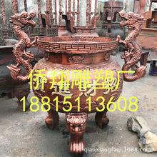 厂家直销寺院宗祠大型户外长方形插香炉 圆形平口铜香炉铸铁香炉