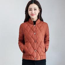 珂茵绮2017冬季新款韩版修身显瘦棉衣女轻薄立领棉袄气质短款外套