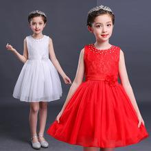 2018新款女童連衣裙夏裝六一兒童節演出禮服舞蹈表演網紗公主裙子