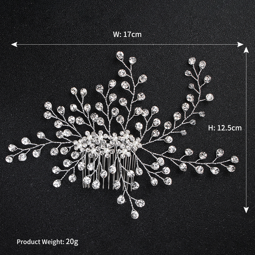 Imitated crystalCZ Fashion Flowers Hair accessories  Alloy NHHS0410Alloy