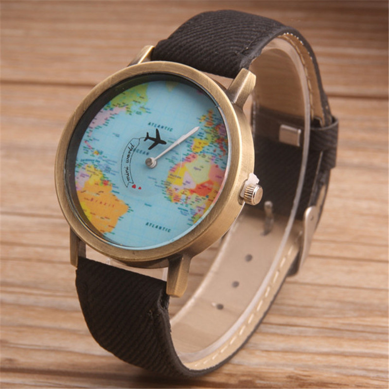 EBay popular cowboy band men's and women's watches wholesale wish hot sale airplane pointer student personality quartz wristwatch