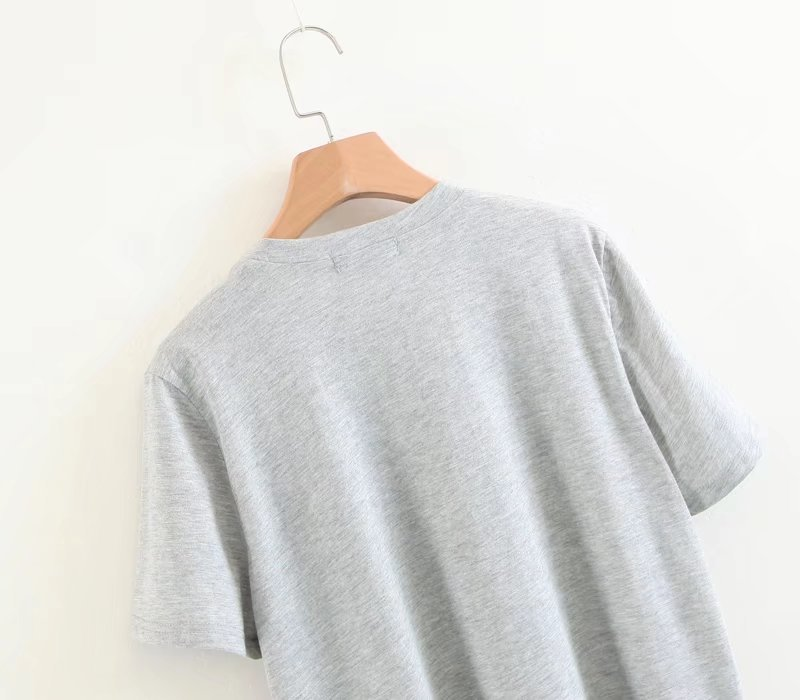 Cotton Sexy & Party  T-shirt  (Gray-L) NHAM3045-Gray-L