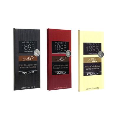德国进口食品路德维希1895 经典70%85%黑白巧克力排块100g