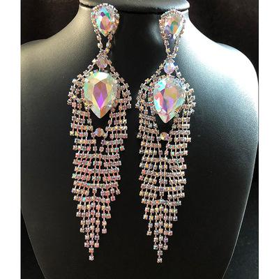 Earrings national AB color Women ballroom latin dance performance Tassel Earrings accessories nightclub accessories Earrings