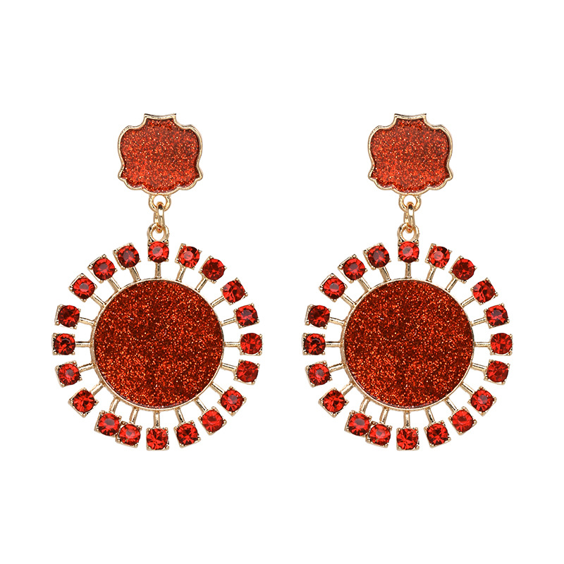 Alloy Fashion Geometric earring  (red) NHJJ3975-red
