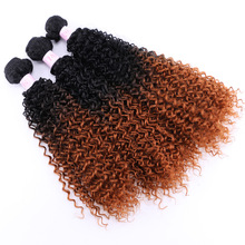 Specially designed for African chemical fiber wig hair gradation wig kinky curly hair weave
