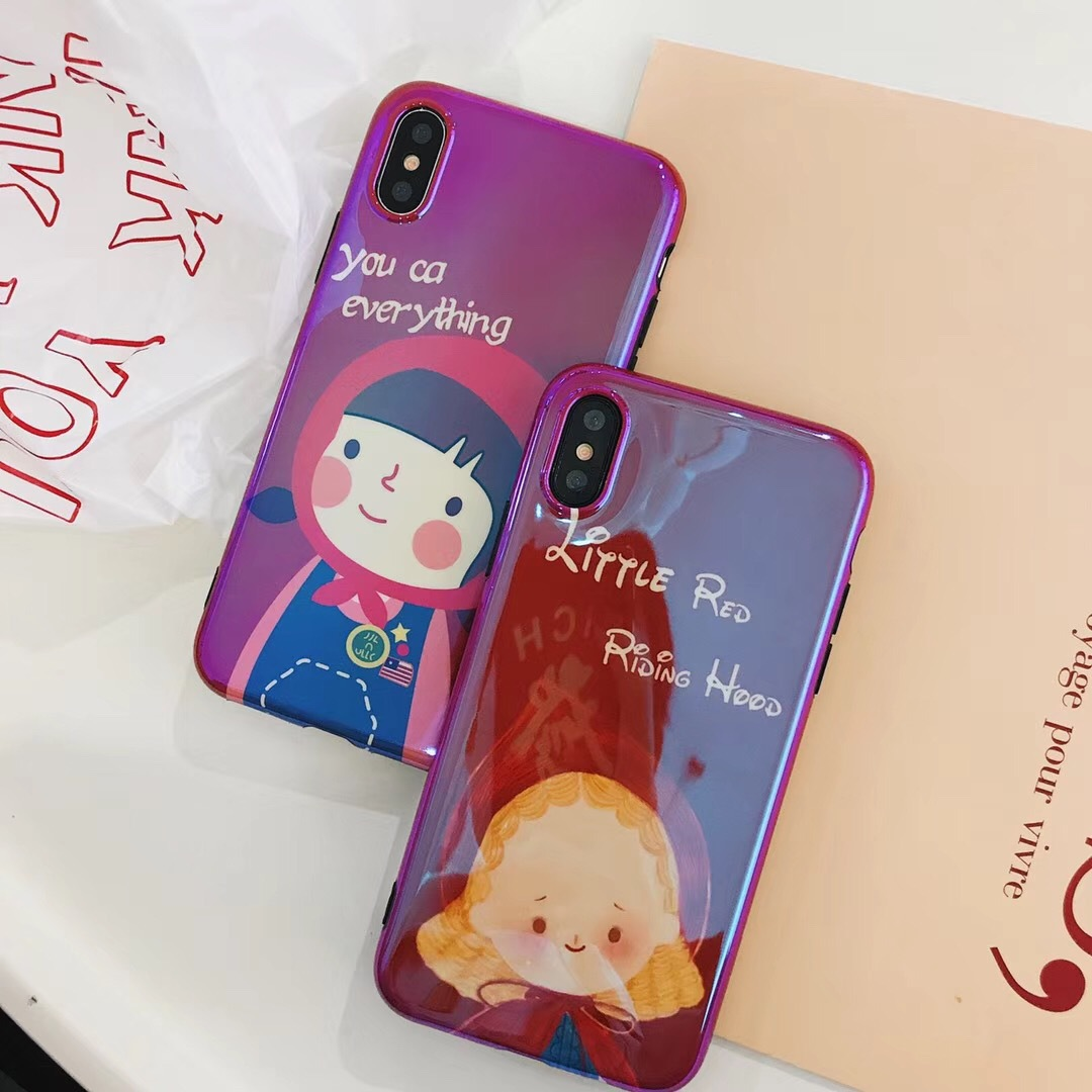 Cute literary little red hood girl for Apple 6s mobile phone shell iPhone7plus/8/XR protective cover female models