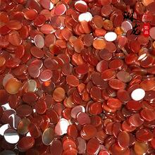 厂家直销红玛瑙双平面椭圆形戒面玛瑙吊坠饰品天然石定制加工厂