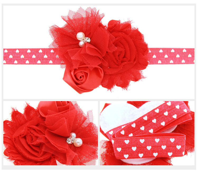Cloth Fashion Flowers Hair accessories  red  Fashion Jewelry NHWO0596red
