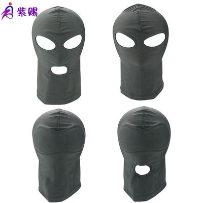成人情趣用品夫妻男女高弹海棉透气全包CS头套 露眼露嘴眼罩批发