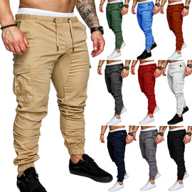 platform new explosion speed fast sell ten color men's casual tether elastic sports pants pants feet trousers