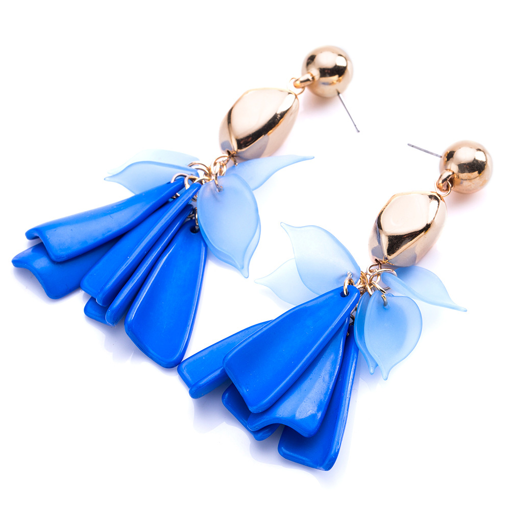 Alloy Fashion Flowers earring(white) NHJE1164-white