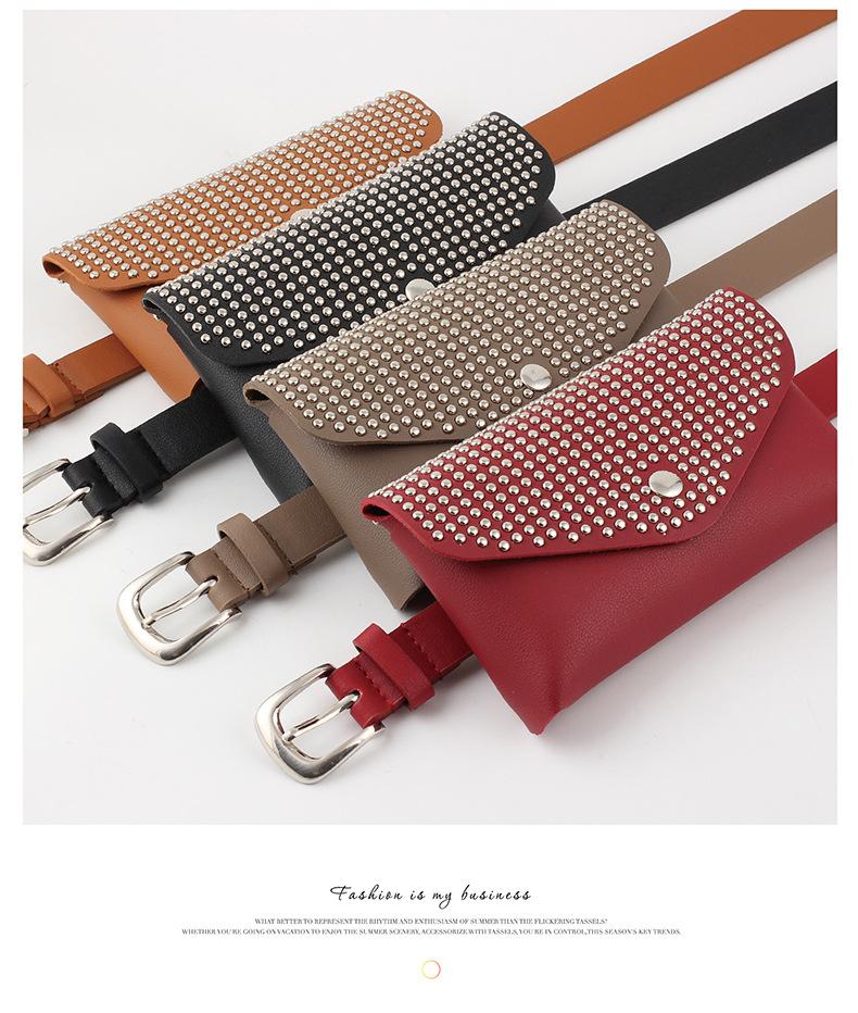 Waist bag full body hole wild fashion wallet fine belt dual-purpose belt mobile phone key case NHPO183197