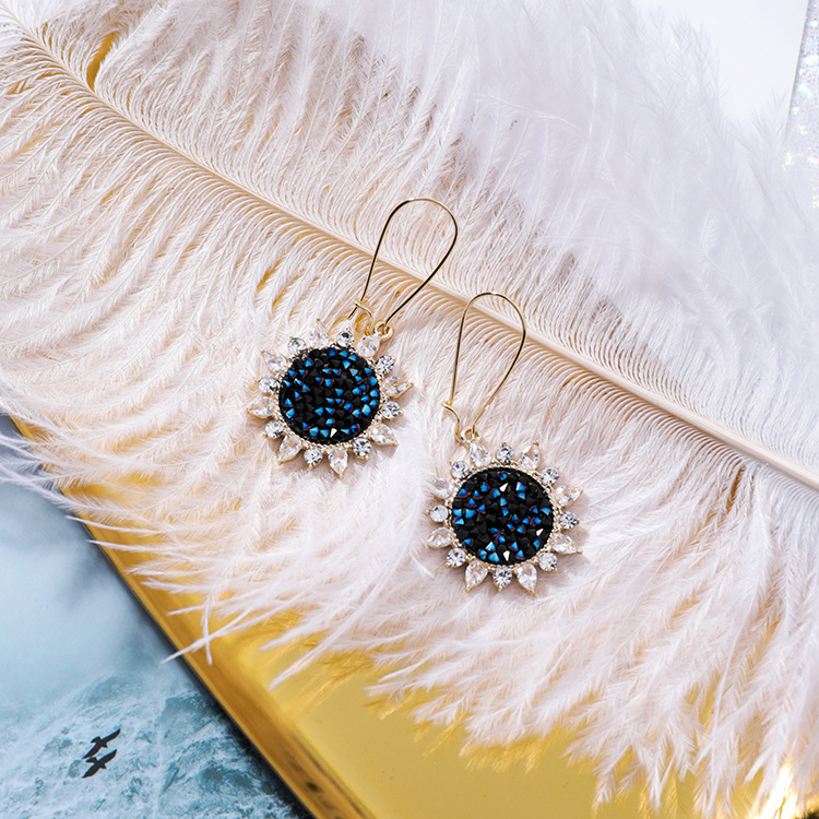 Alloy Korea Flowers earring  (Main picture) NHMS1951-Main-picture