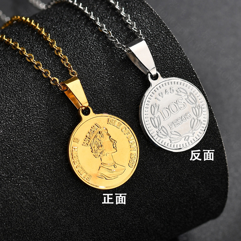 Titanium&Stainless Steel Fashion Cartoon necklace  (Steel color) NHHF1237-Steel-color
