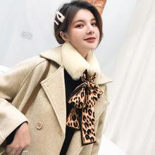 韩版仿毛獭兔毛围巾女冬季学生毛领子毛毛绒围脖套头百搭交叉