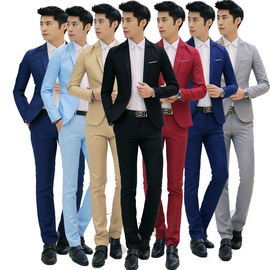 Suit Fashion Leisure suit New Youth small suit Men's two-piece set