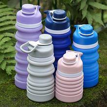 熱賣便攜折疊運動硅膠軟水杯 成人學生簡約款卷卷魔法杯 工廠直銷