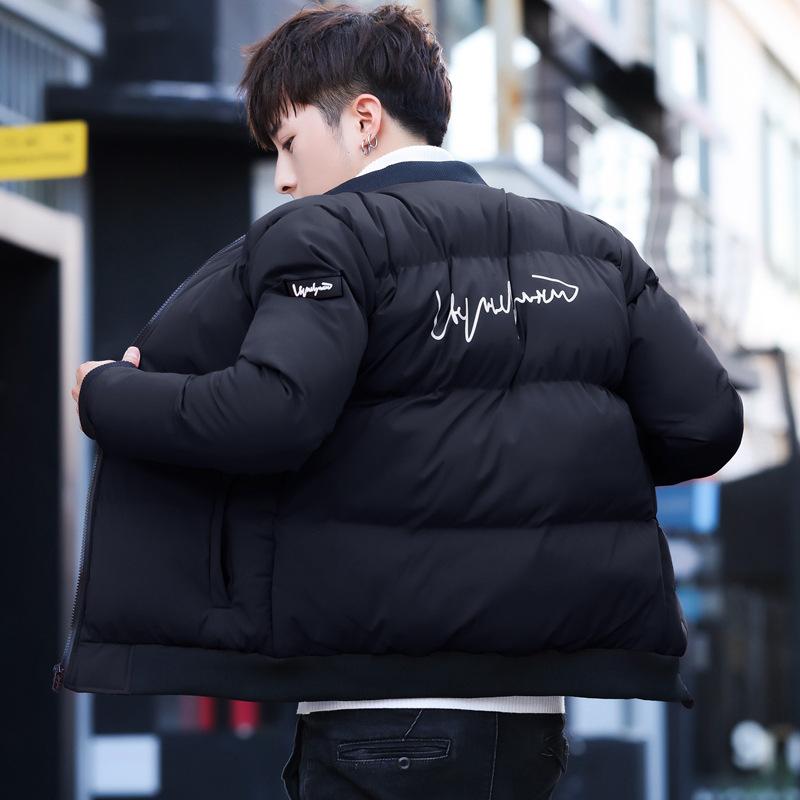 新款冬季棉衣男士棒球领保暖羽绒棉服韩版修身外套青年棉袄面包服