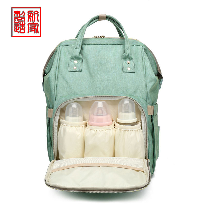 韩版妈咪包牛津布双肩包手提收纳包女包多功能大容量防水母婴包
