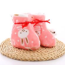 2018新款冬季厚棉保暖婴儿棉鞋 卡通可爱珊瑚绒宝宝鞋子一件代发