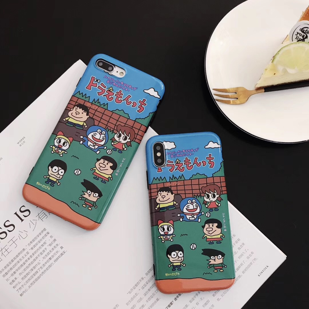 Cartoon for Apple X哆啦A dream iphone7plus mobile phone case jingle cat 6sp all-inclusive silicone 8p soft shell