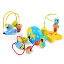廠家直銷木制兒童迷你小繞珠串珠玩具 1-2歲寶寶手指靈活互動玩具