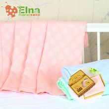 爱娜麻麻纯色竹纤维盖毯冰丝抱毯 春夏季儿童被子宝宝空调毯子