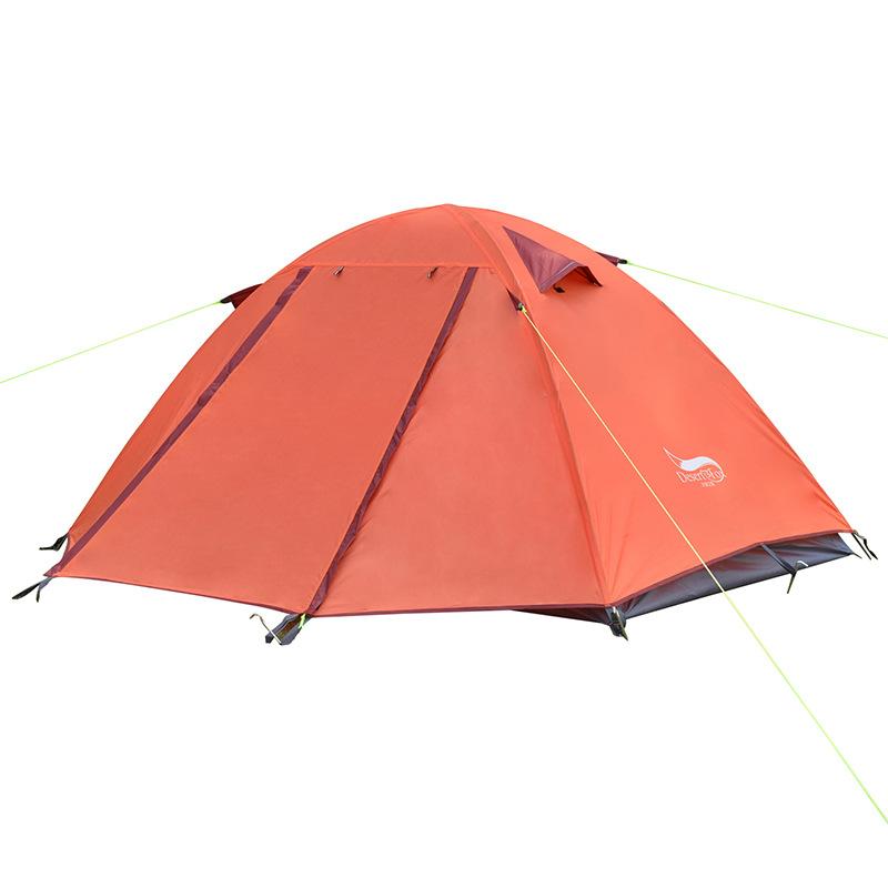 沙漠之狐 户外单人双层野营帐篷 铝杆专业防雨防风露营帐篷批发