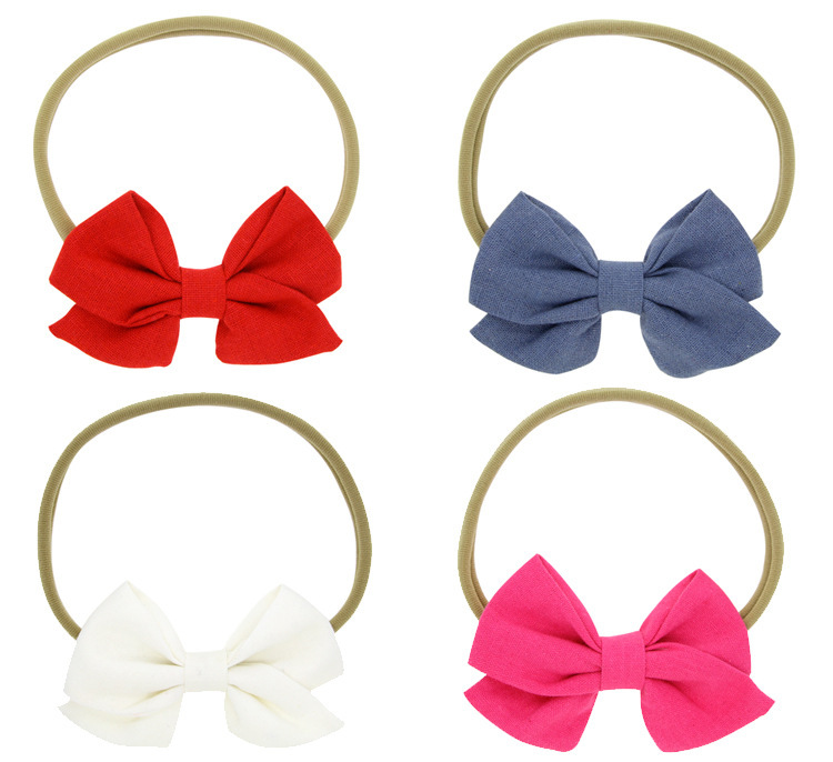 Cloth Fashion Bows Hair accessories  4color mixing  Fashion Jewelry NHWO07914colormixing