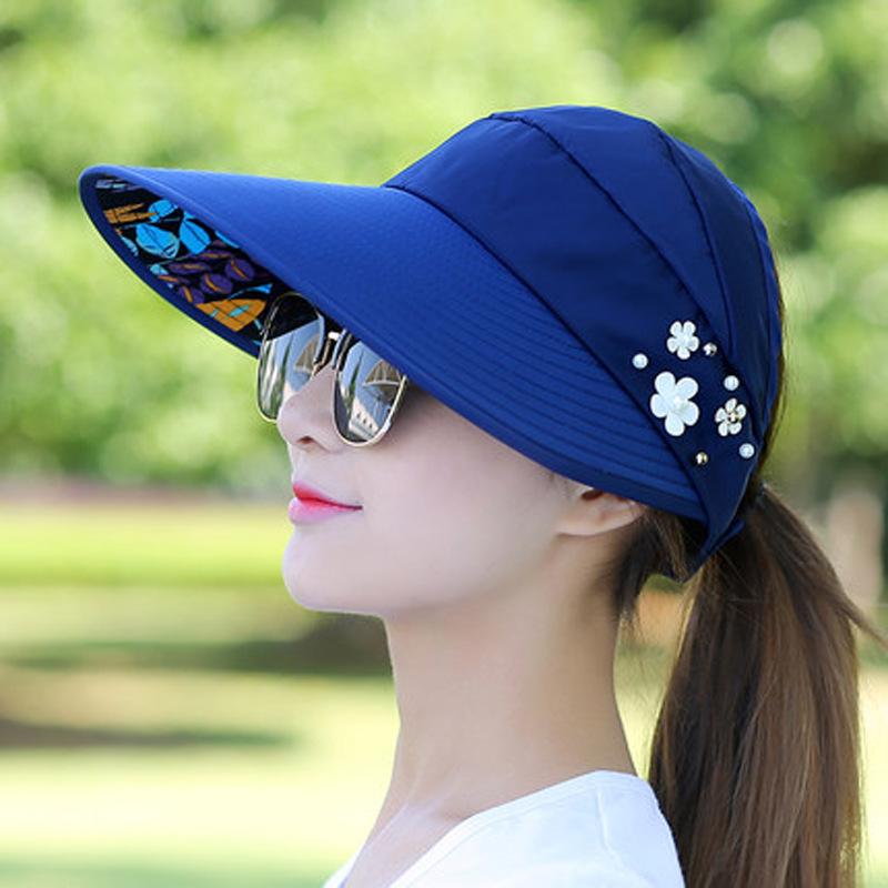 帽子女韩版新款户外出游休闲百搭防晒太阳帽可折叠防紫外线遮阳帽