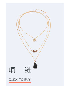 Alloy Fashion Geometric necklace  (Alloy + coffee color) NHTF0087-Alloy-coffee-color