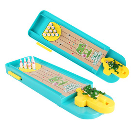 Children's puzzle desktop game creative interactive mini frog bowling table pinball launcher toy