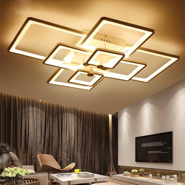 无极调光led吸顶灯现代简约卧室灯餐厅客厅灯长方形亚克力灯具