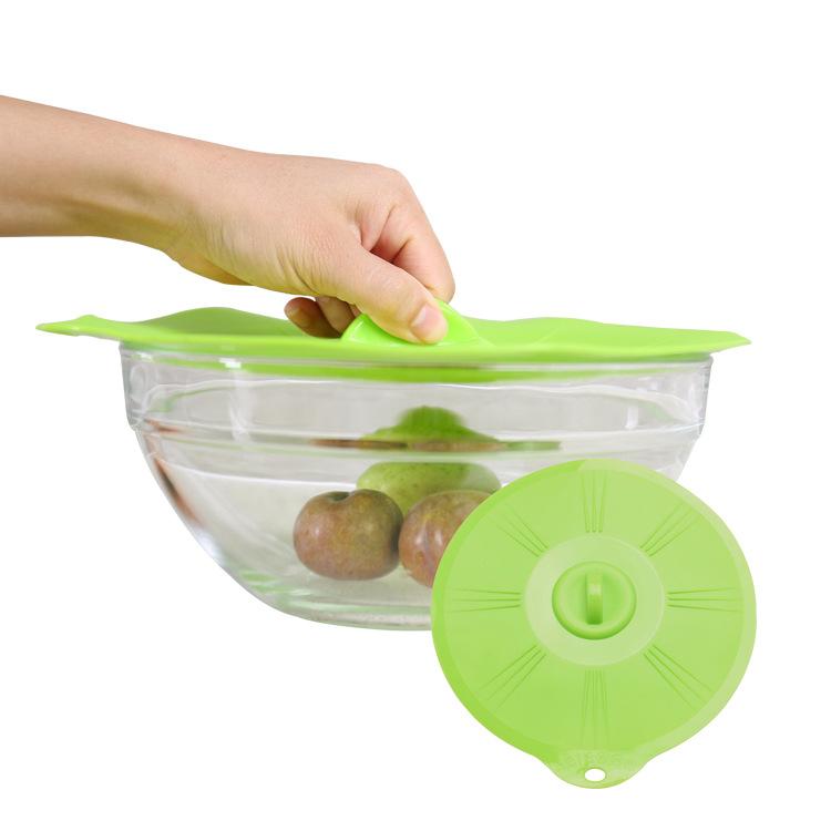 厂家直销微波炉防溢真空硅胶密封盖 蔬菜保鲜盖硅胶碗盖五件套