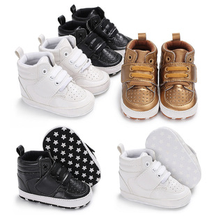 Spring/autumn 0-1 year old male treasure high top casual sports soft-soled shoes baby shoes toddler shoes one drop delivery