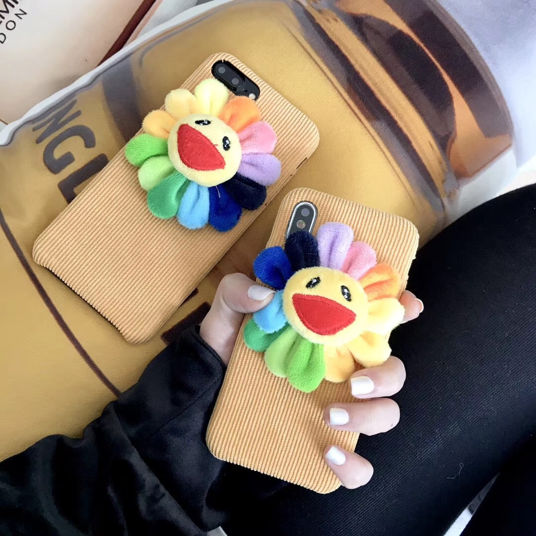 Sun flower apple for Xs mobile phone shell iPhone8plus/7p/6sp creative all-inclusive anti-fall cute female models