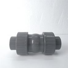廈門SH UPVC雙由令止回閥  DN32 38mm 1-1/4 PVC活接球型逆止閥