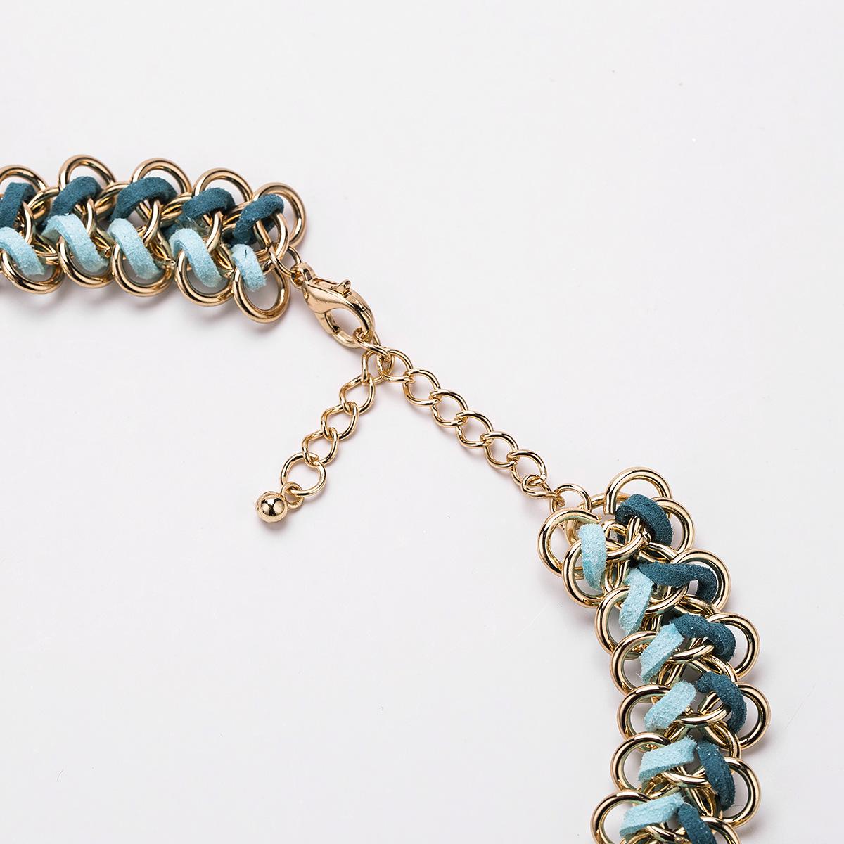 Alloy Fashion Geometric necklace  (purple) NHJE1602-purple