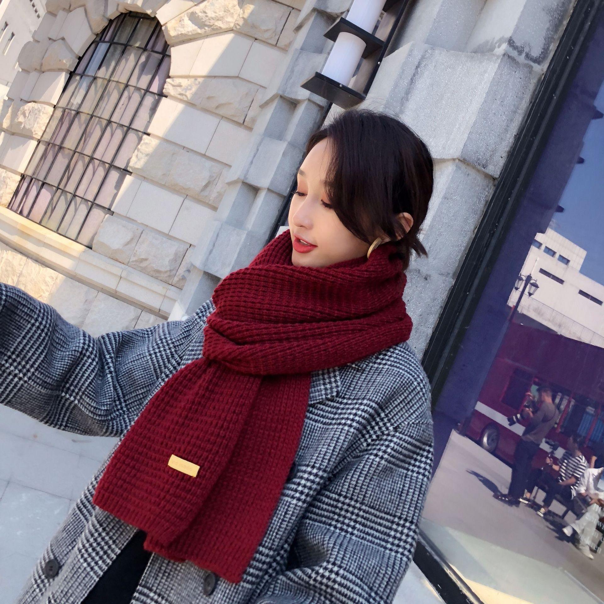 Cloth Korea  scarf  Pink NHMN0329Pink