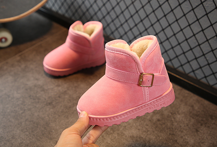 Elsa Princess New Plush Warm Baby Toddler Boots Fashion Child Snow Boots Shoes For Boys Girls Winter Shoes Kids Ankle Boots