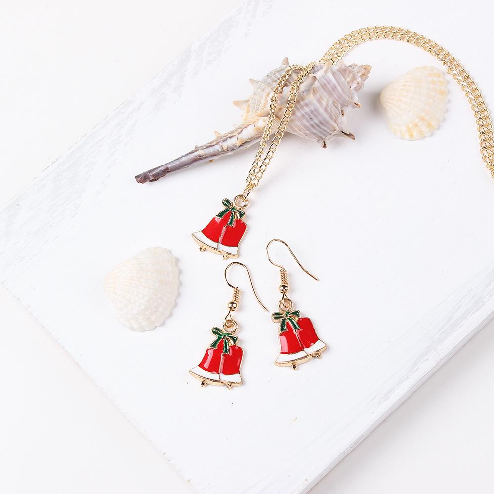 Alloy Fashion Geometric necklace(Christmas tree) NHNMD4868-Christmas-tree