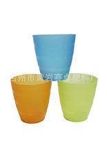 厂家直销 彩色条纹口味 塑料PP漱口杯 出口日本水杯 日常用洗漱杯